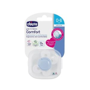 CHICCO SUCETTE PHYSIO COMFORT BLEU 0-6M
